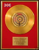 "IRON MAIDEN  24 Carat Gold 7"" Disc NUMBER OF THE  BEAST"